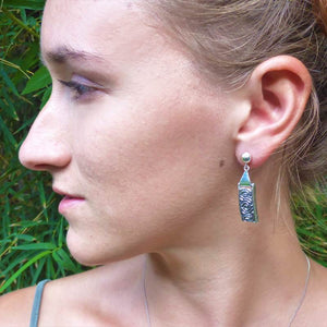 Luxury Sustainable Silver Coral Maze Earrings