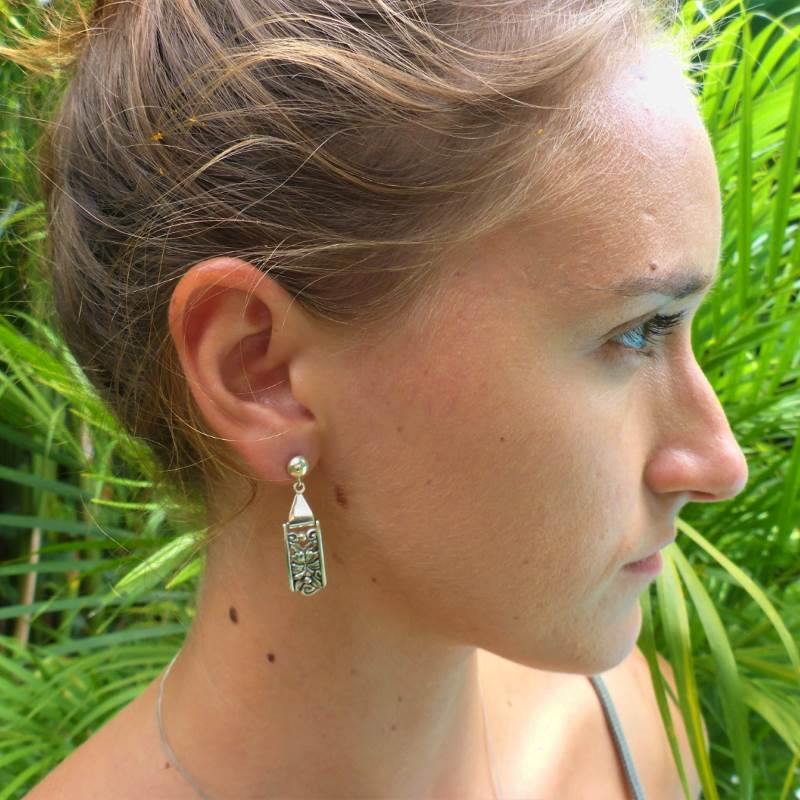 Luxury Sustainable Silver Hibiscus Perfection Earrings