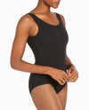 Scoopneck Cotton-Blend Leotard