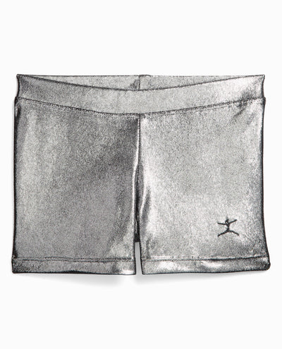 Girl's Foil Print Gymnastics Short