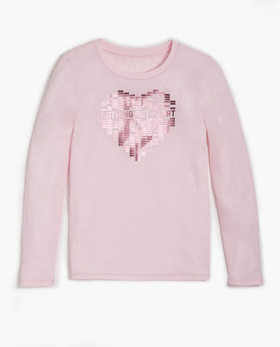 Girl's Nothing But Heart Long Sleeve Tee