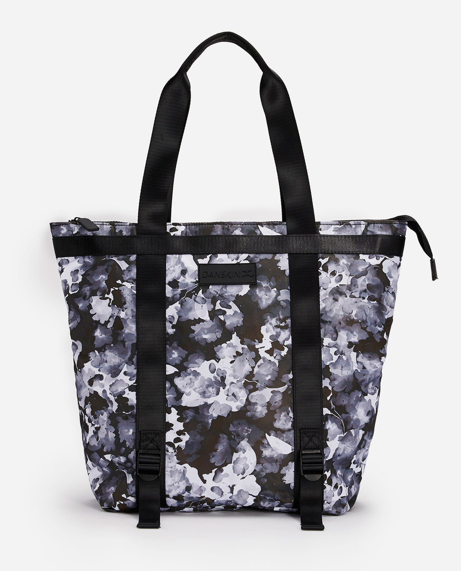 Watercolor Print Convertible Tote Bag