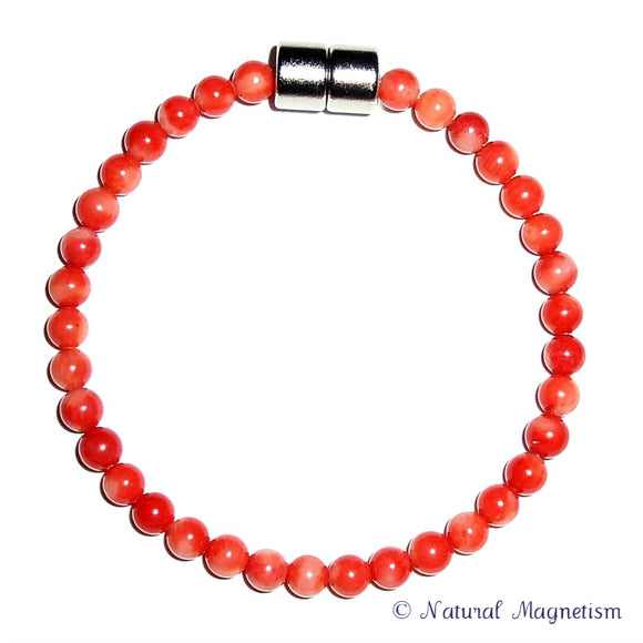 5mm Bamboo Coral Gemstone Anklet