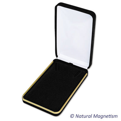 Black Velvet Necklace Box With Gold Trim