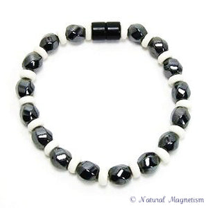 Large Twist And Bone Tyre Magnetite Magnetic Bracelet