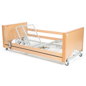 The Encore Classic Low Beech Electric Profiling Hospital / Care Bed