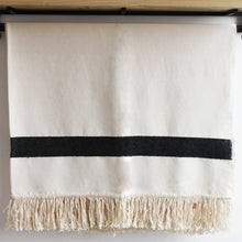 Load image into Gallery viewer, Rania Moroccan Throw, Cream and Black