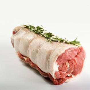 Grass fed loin of lamb (easy carve, boned and rolled)