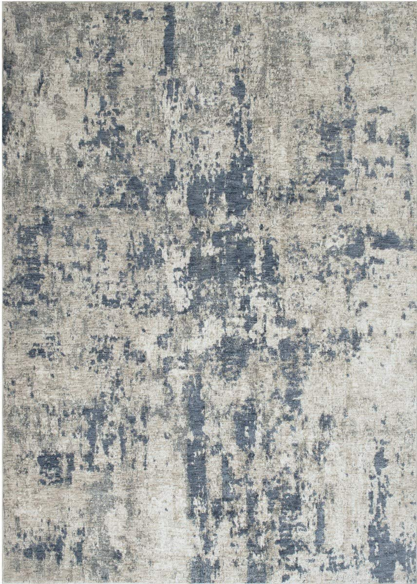 Abstract Rugs/Luxury Livingroom/Fashion Home Modern Area Rugs-Blue/Ivory/Beige/Multi Color