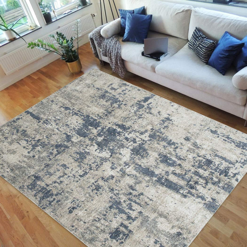 Handcraft Rugs-Abstract Rugs/Luxury Livingroom Modern Soft/Smooth-Silver/Gray/White