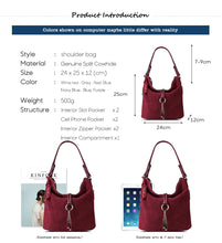 Women's Split Leather Shoulder Suede Casual Crossbody Handbag - ElegantBags.Shop
