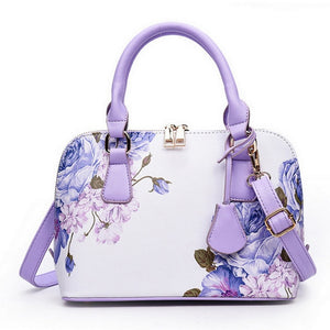 Women's Fashion Luxury Floral Flower Shell Shoulder Handbag - ElegantBags.Shop