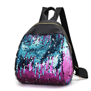Women's Petite Shiny Sequins Fashion Backpack Handbag - ElegantBags.Shop