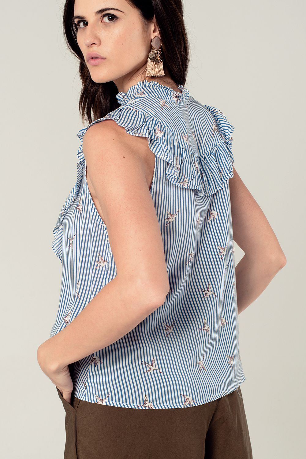 Blue Pattern Printed Shirt - LoveSylvester