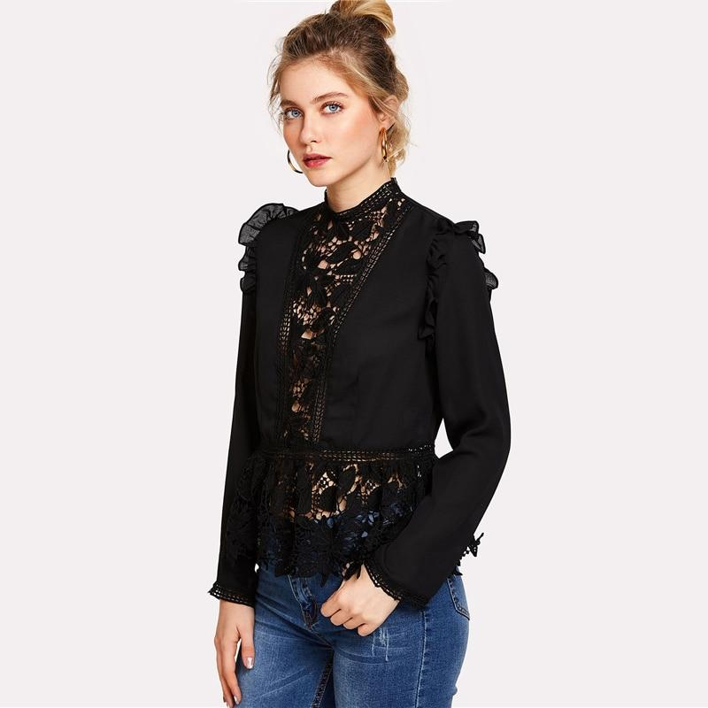 Women - Apparel - Shirts - Blouses - Knitted Peplum Blouse