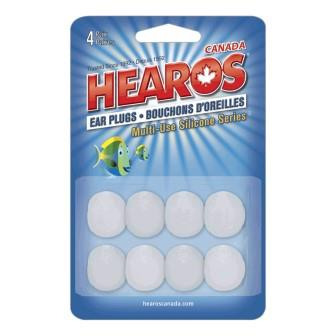 Hearos - Earplugs multi-use silicone series NRR 22dB