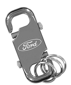 Ford Black Dual Clip Multi-Rings Key Chain Keychain Fob