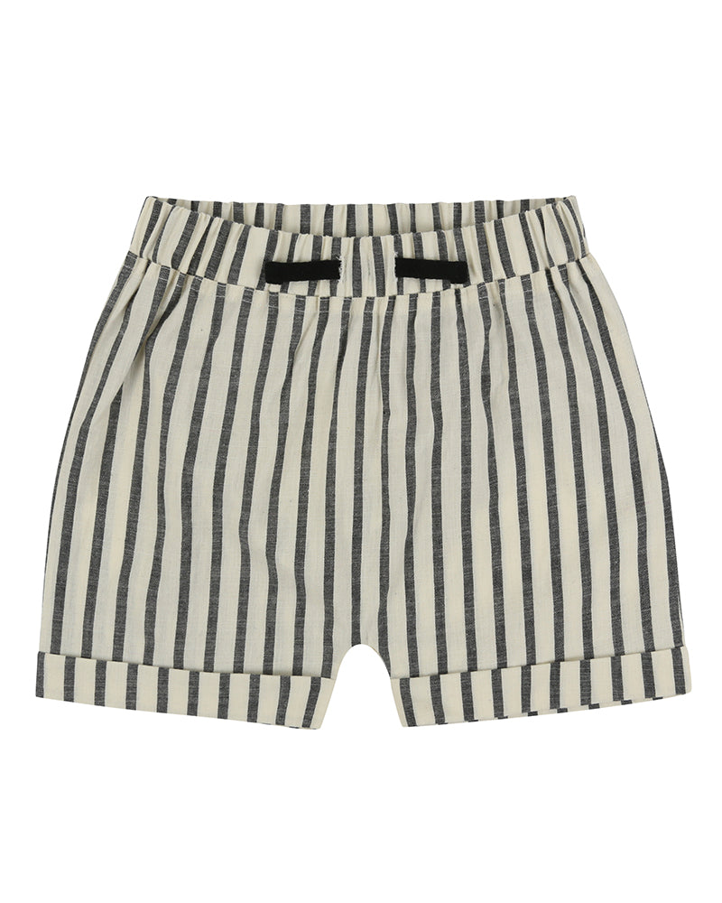 turtledove - woven stripe shorts - baby at the bank
