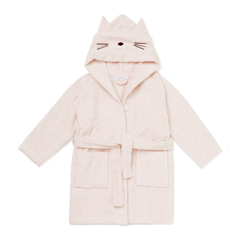 Liewood Lily Bathrobe Cat Sweet Rose - Baby at the Bank