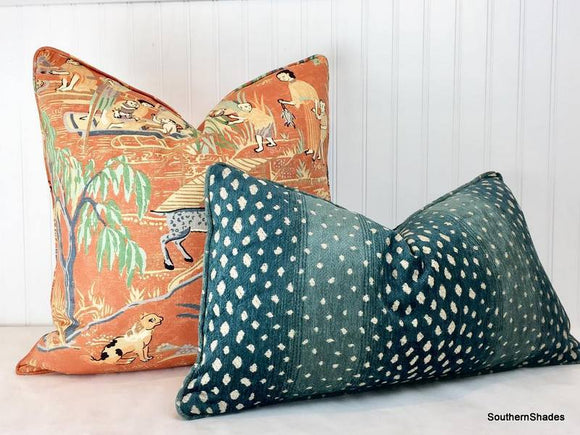 One or Both Sides - ONE Thibaut Gazelle Pillow Cover with Knife Edge