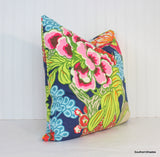 Both or One Side - ONE Thibaut Honshu Pillow Cover with Self Cording