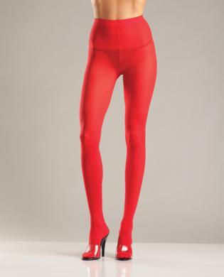 Opaque Nylon Pantyhose Red QN