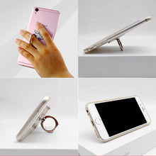 Load image into Gallery viewer, Cell Phone Finger Ring Holder Cute Animal 360 Swivel Smartphone Stand (Ostrich)