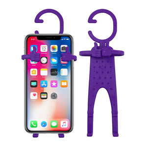 Multiple Use Flexible Cell Phone Holder,Great for Car Mount, GPS Navigation, Battery Charging, Desktop Stand, etc. (Purple)