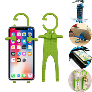 Multiple Use Flexible Cell Phone Holder,Great for Car Mount, GPS Navigation, Battery Charging, Desktop Stand, etc. (Light Green)