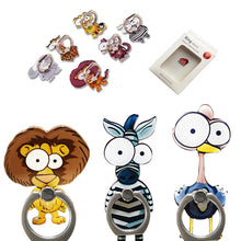 Load image into Gallery viewer, Cell Phone Finger Ring Holder Cute Animal 360 Swivel Smartphone Stand (3 Packs C)