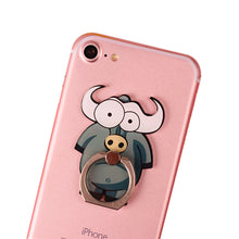 Load image into Gallery viewer, Cell Phone Finger Ring Holder Cute Animal 360 Swivel Smartphone Stand (Buffalo)