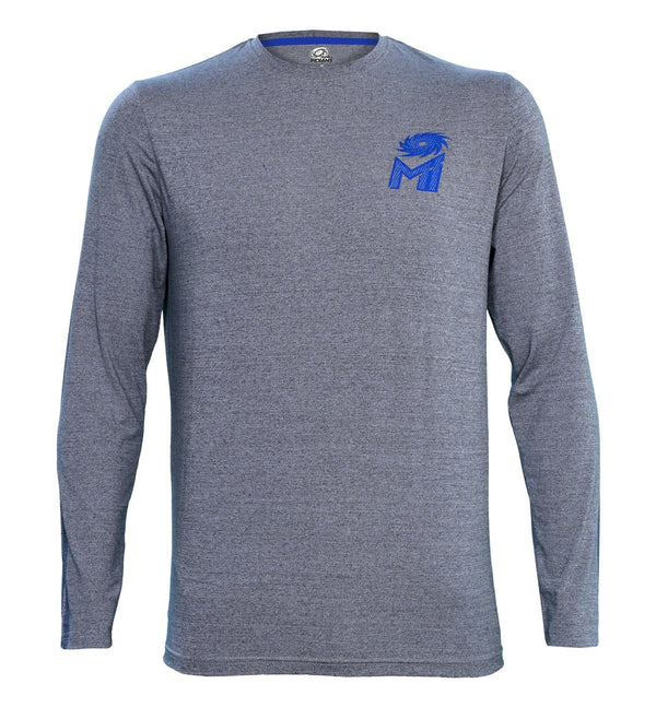 Mumbai Indians Core Grey Printed Full Sleeve T-Shirt