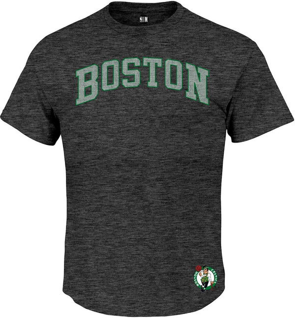 NBA Boston Celtics Charcoal Printed Round Neck T-Shirt