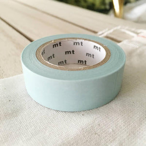Baby Blue Washi Tape MT Vibrant Solid Japanese