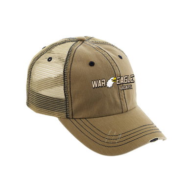 War Eagle Cotton Twill Distressed Trucker Cap