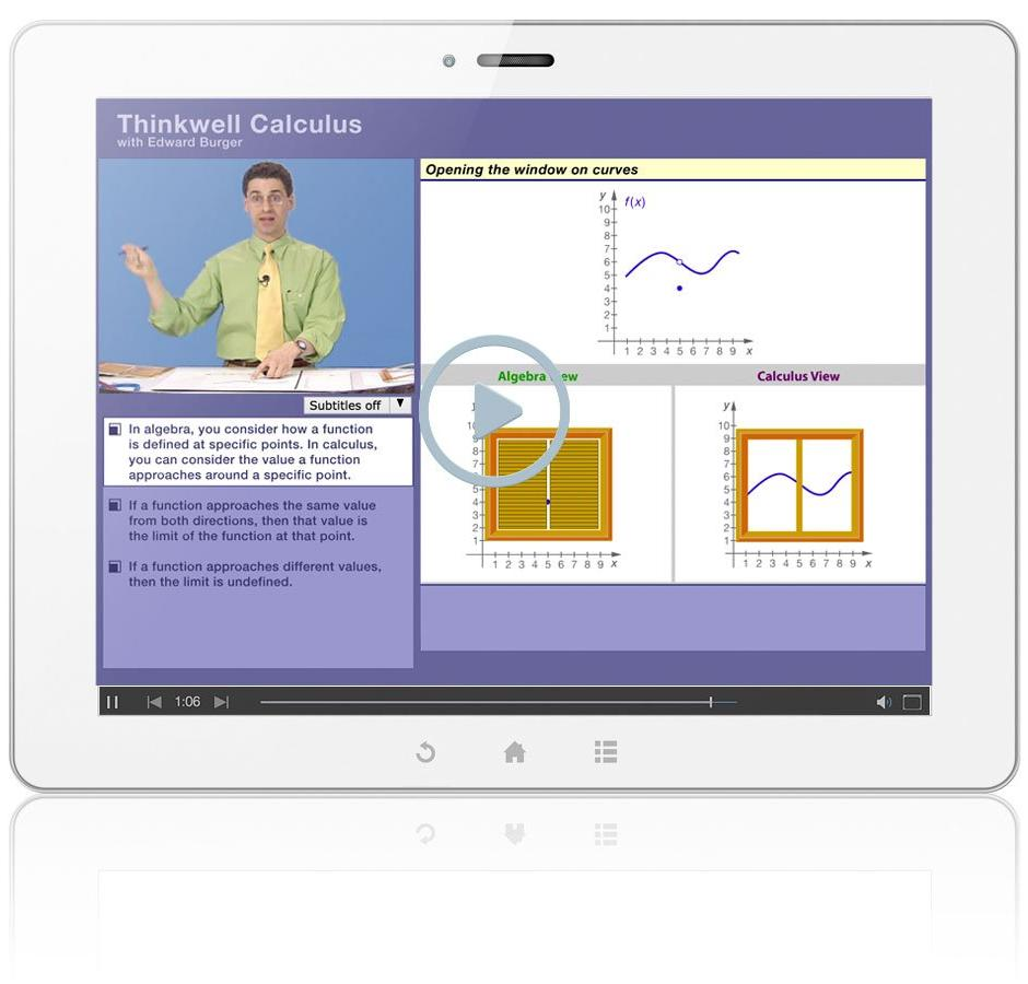 Thinkwell's AP Calculus AB with Professor Edward Burger Sample Video Lesson