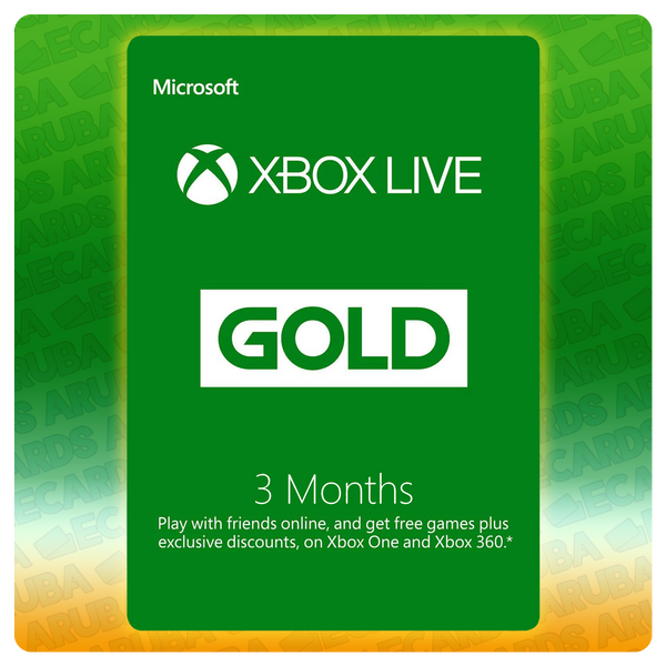 Xbox Live Gold 3 Months Gift Card Codes (US)