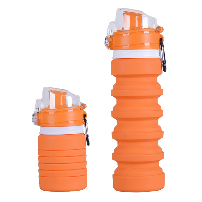 Orange Climate Bottle - Climate Cups - Collapsible Reusable Cups