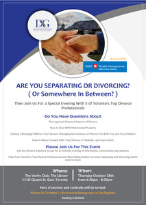 An Evening With Toronto's Top Divorce Professionals