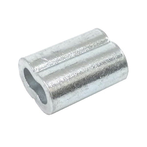 50ea Aluminum Sleeves for Wire Rope 1/4""