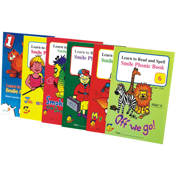 Book - Phonic Work Books (Set Of 6) Idem Smile Language- BibiBuzz