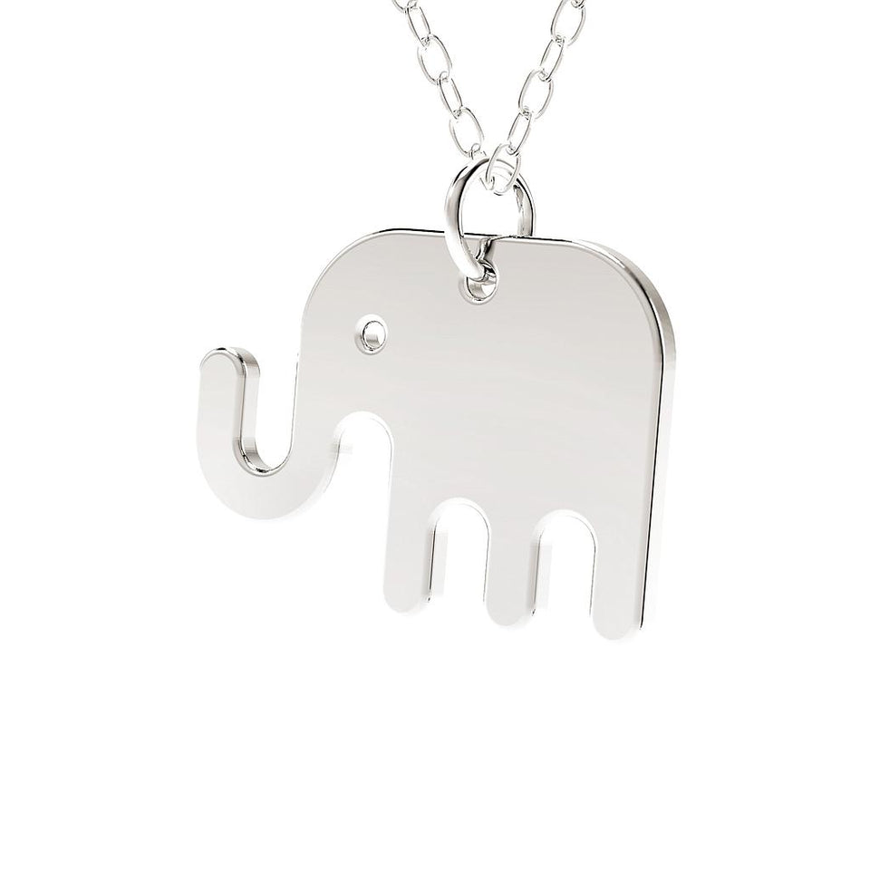 minimals elephant necklace (45cm)