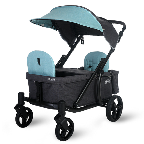 Pronto One Strollerwagon - Mint with black frame - Starter package