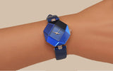 Geometry Crystal Leather Women Fashion Watch