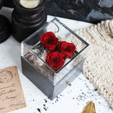 Rose Preserved Flower For Jewelry Box Wedding Souvenir Valentines Day Gift