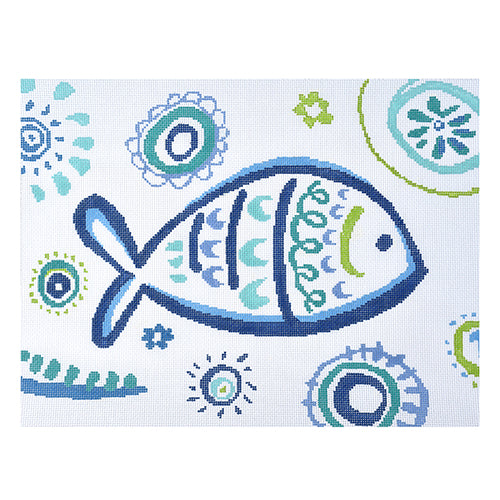KB 1399 Tropical Fish - Turquoise Swirls