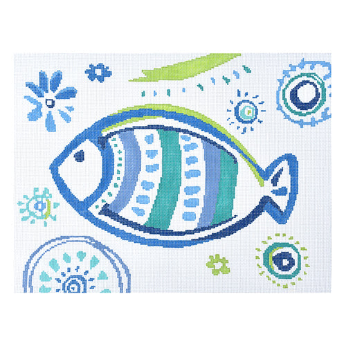 KB 1401 Tropical Fish - Turquoise Stripes
