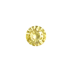 2.41ct Round Faceted Yellow Sapphire Certified Unheated and of Sri Lankan Origin