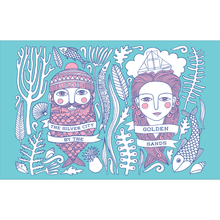 Fishman & Fishlady Aberdeen cotton tea-towel