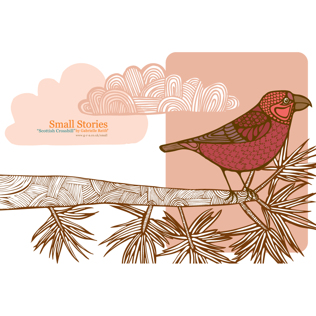 Scottish Crossbill Card